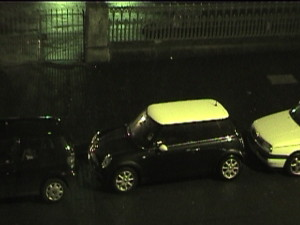 MINI, parked tightly.
