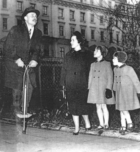 Enoch Powell on a pogo stick